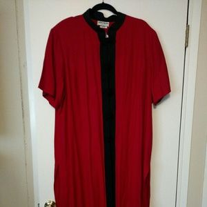 Jackets & Blazers - Black and Red Duster Size - 24 (NWT)